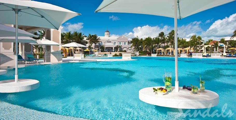 Sandals Emerald Bay Swim-up Tables