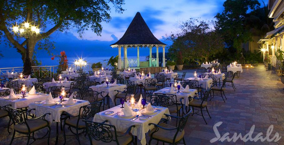 Sandals Royal Plantation Terrace Dining