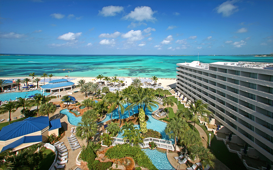 Melia Nassau Beach has three pools