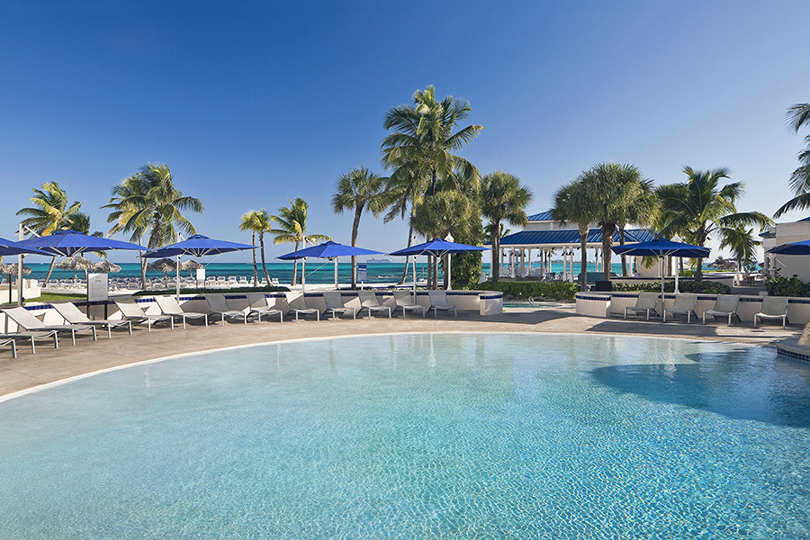 One of three pools at Melia Nassau Beach
