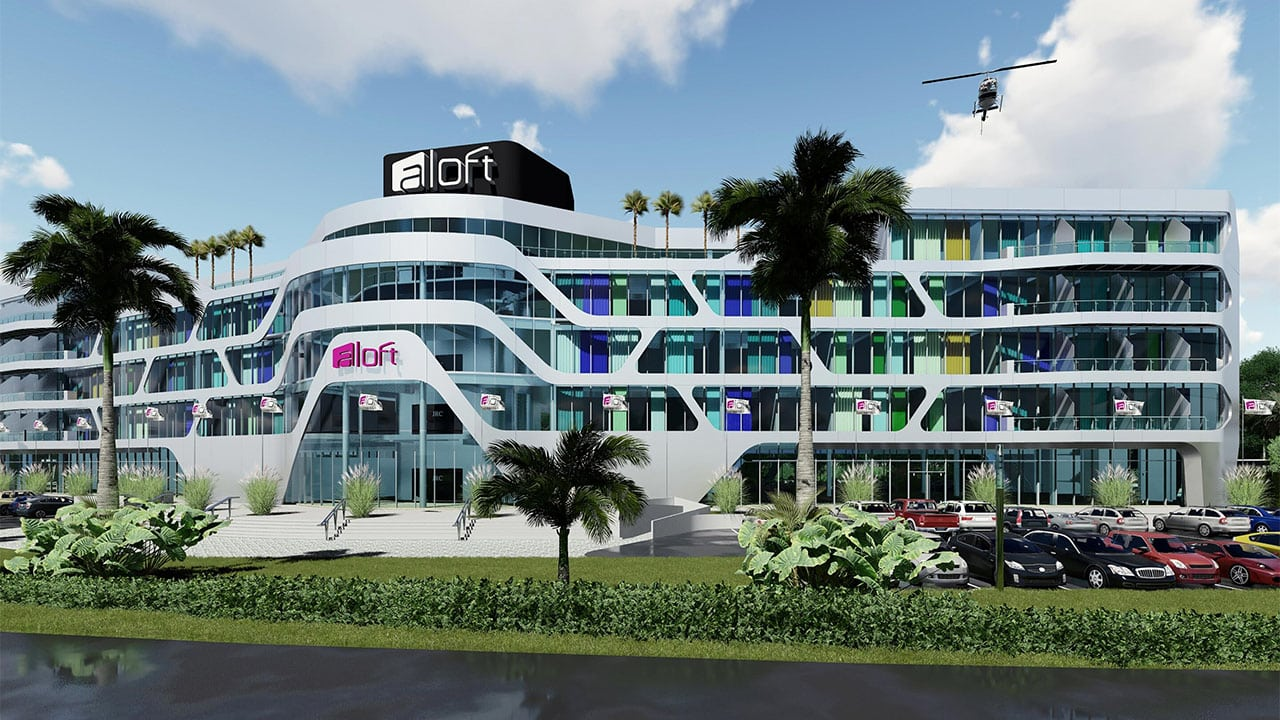 Exterior of the new Aloft Ponce