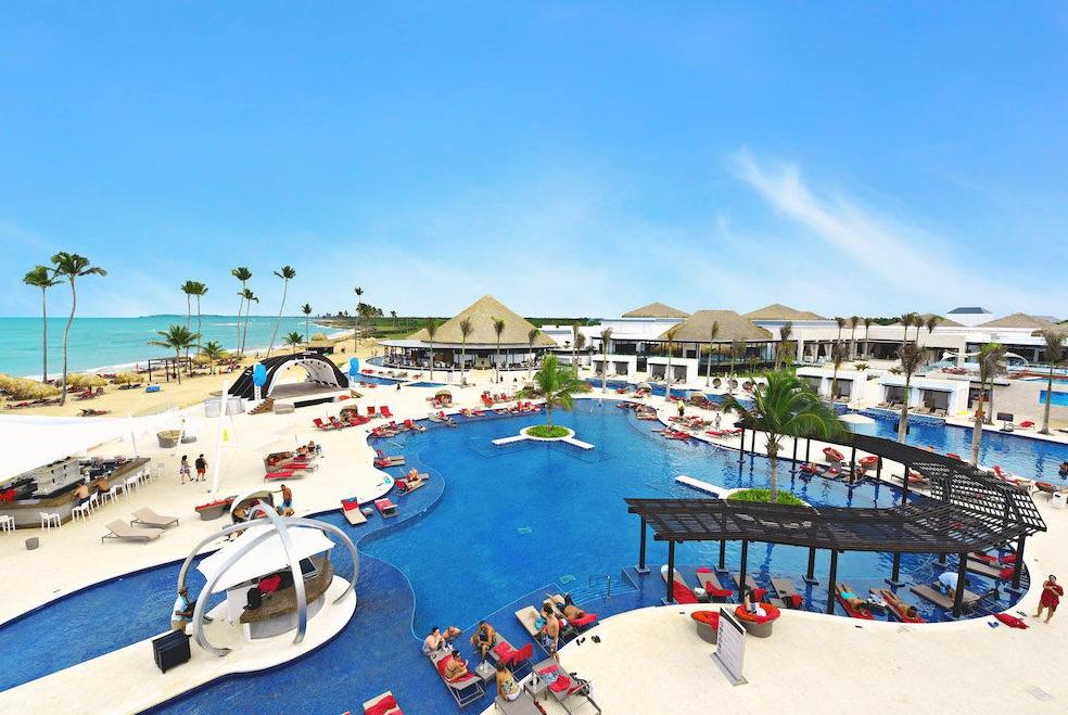 Main pool area at CHIC Punta Cana