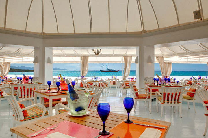 Blue is the resort's casual beachfront restaurant.