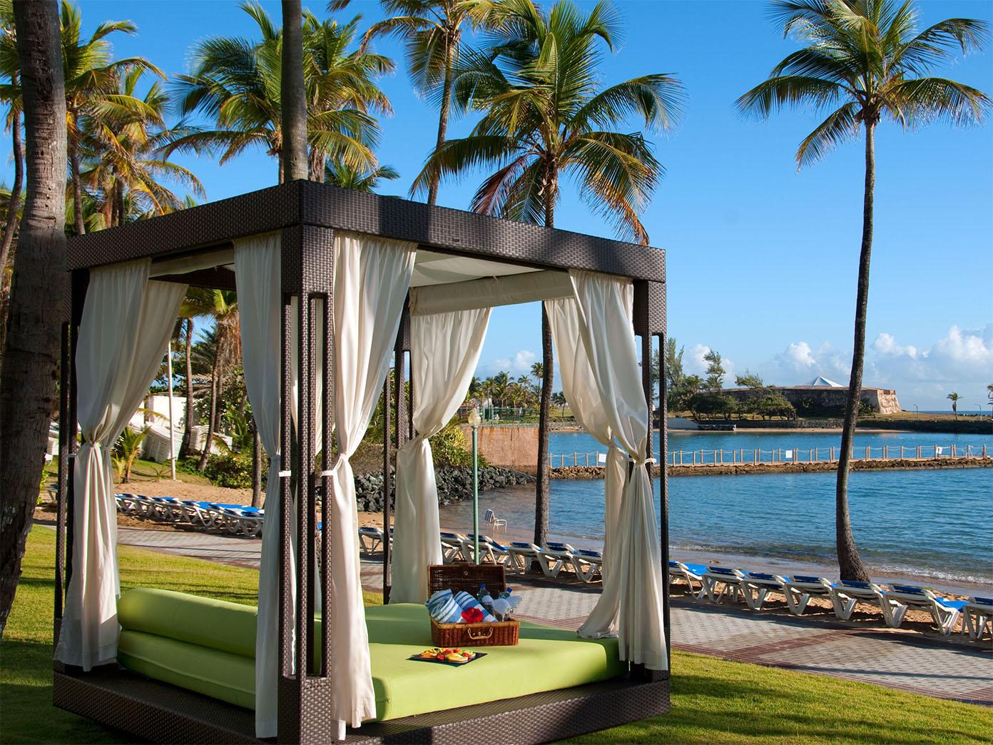 Caribe Hilton San Juan Beach Cabana