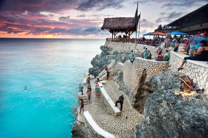 Cliff Diving at Ricks Cafe in Jamaica