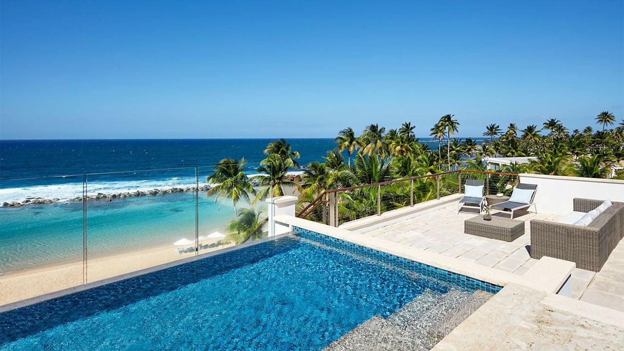 Private plunge pool at Dorado Beach, a Ritz-Carlton Reserve