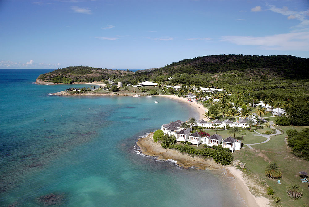 Aerial view of Hawksbill, Antigua