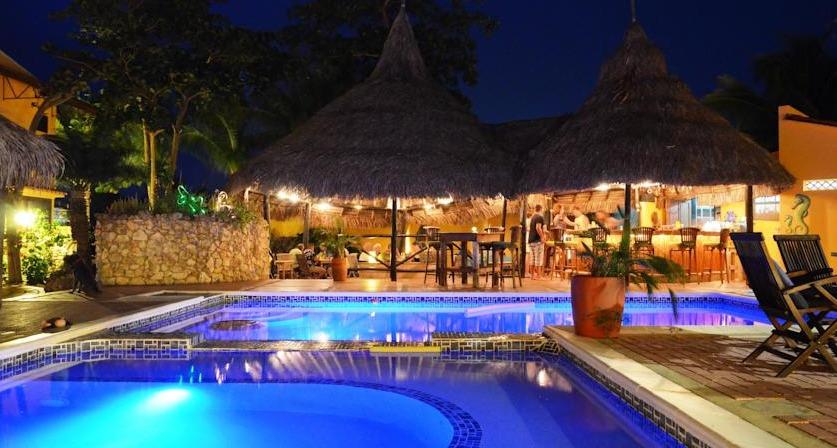 Pool and bar at Hotel Roomer.