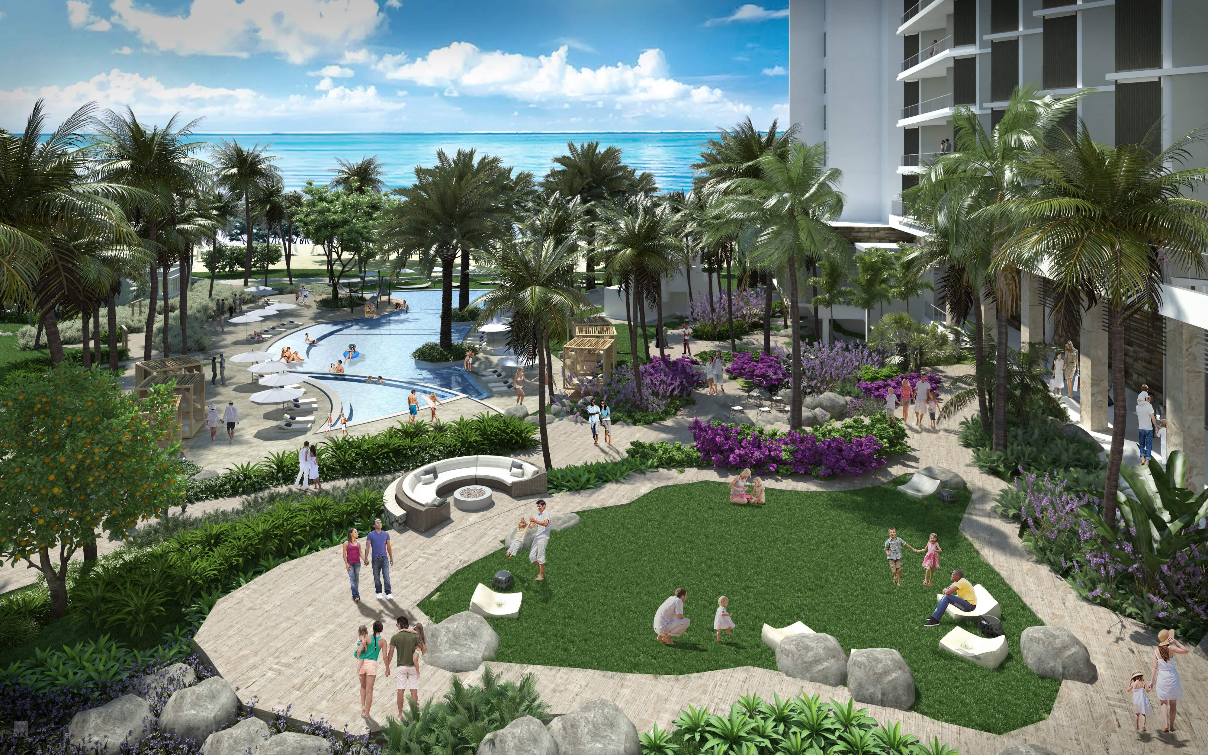 target market of a beach resort
