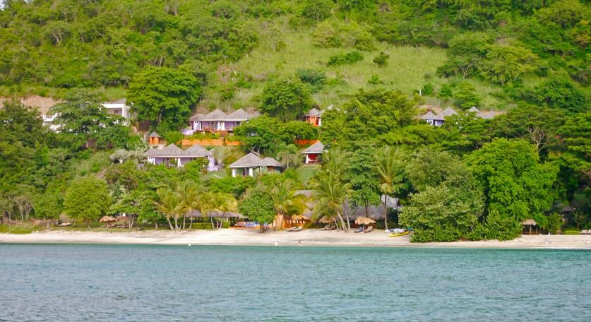 LaLuna has a secluded location along Magazine Beach, Grenada.