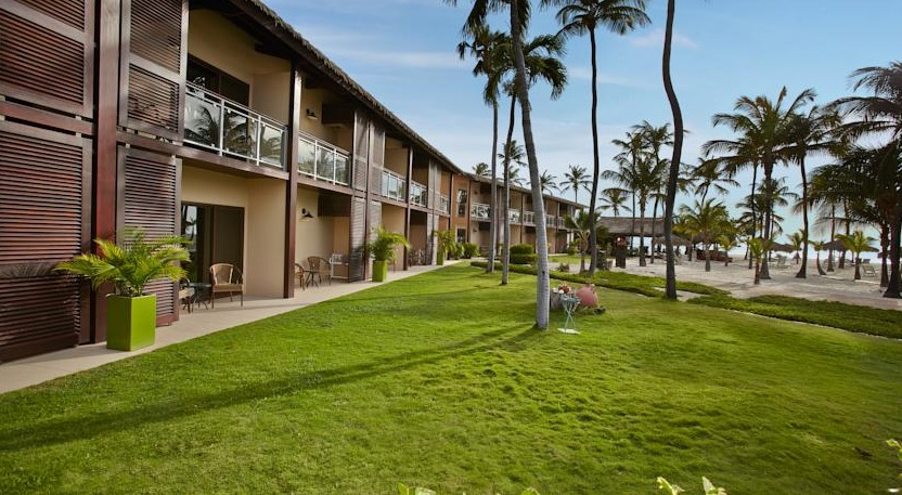 The two-story boutique resort features rooms with private balconies or patios.