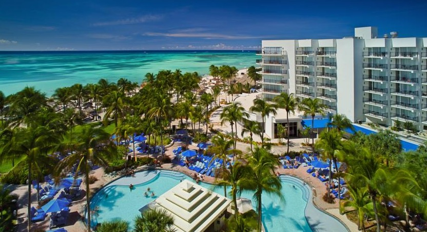 Marriott Aruba Resort & Stellaris Casino is located on popular Palm Beach.