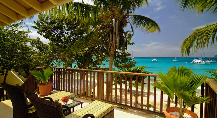 Seagrape Suites feature a covered furnished patio or balcony.