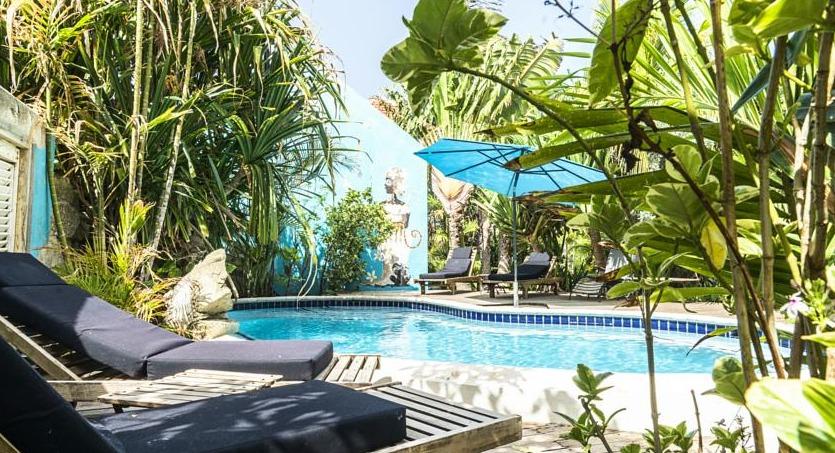 Pool area at Pietermaai Boutique Hotel