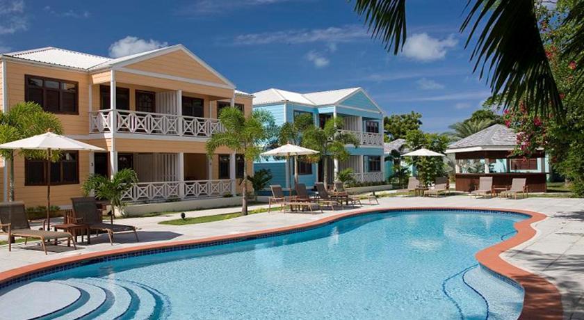 Poolside villas at Buccaneer Beach Club