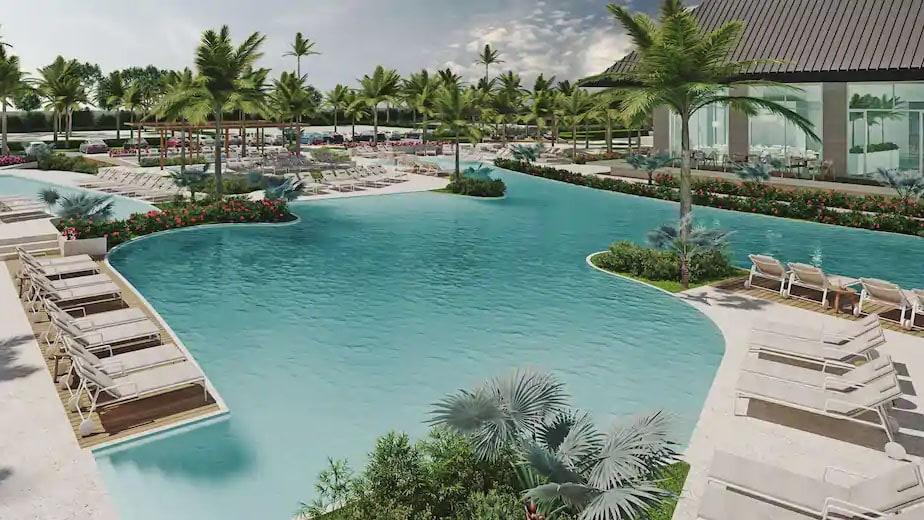 Pool area at Radisson Blu Aruba