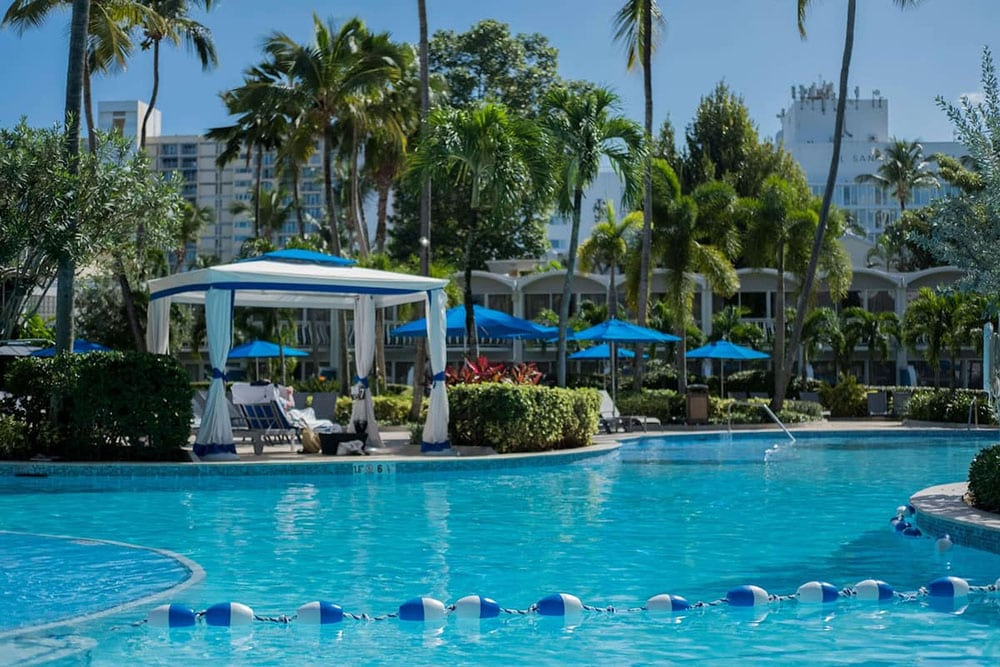 The lagoon pool at Royal Sonesta San Juan