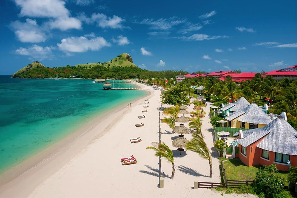 Beachfront Rondoval Suites at Sandals Grande St. Lucian