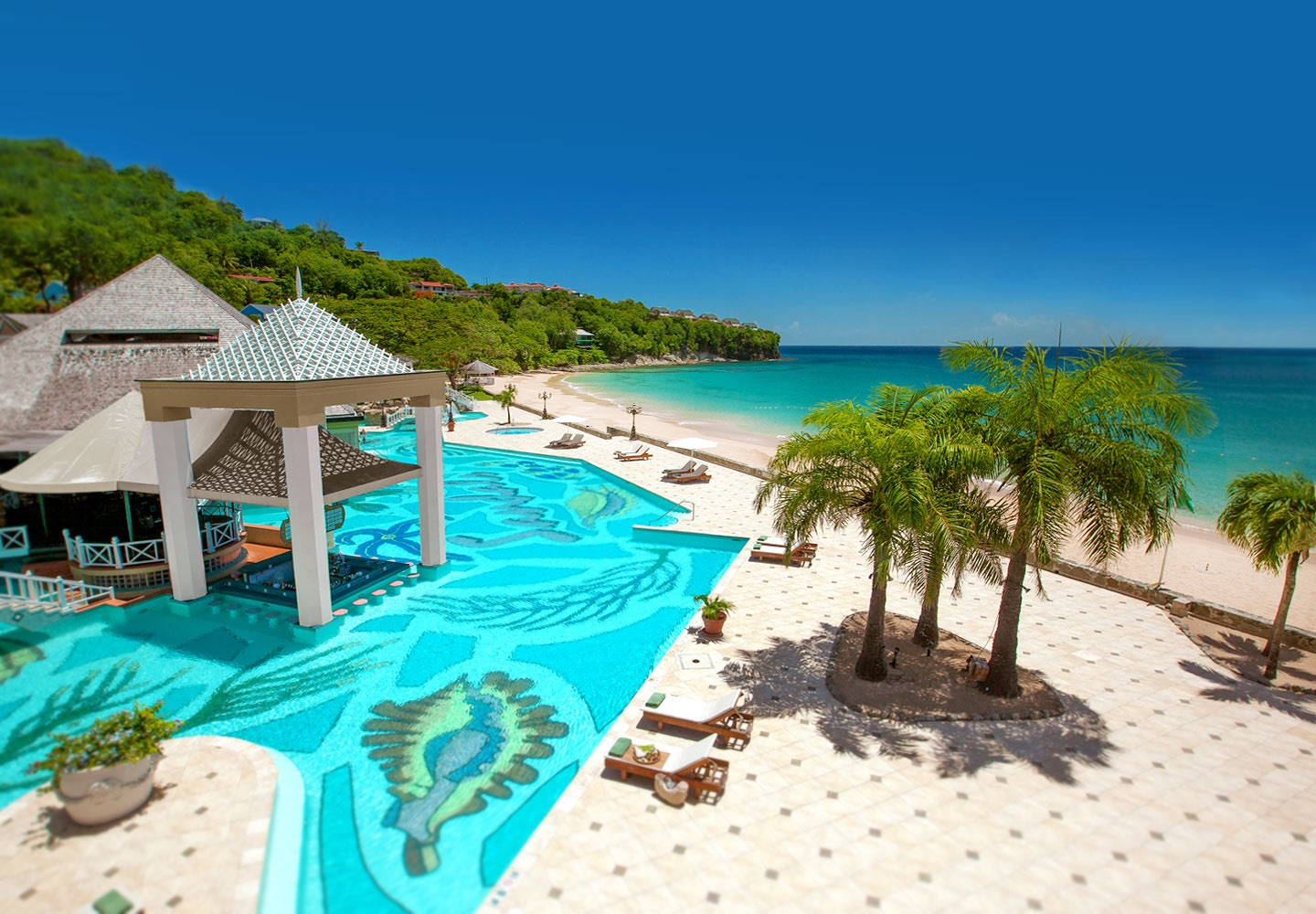 Sandals Regency La Toc Main Pool
