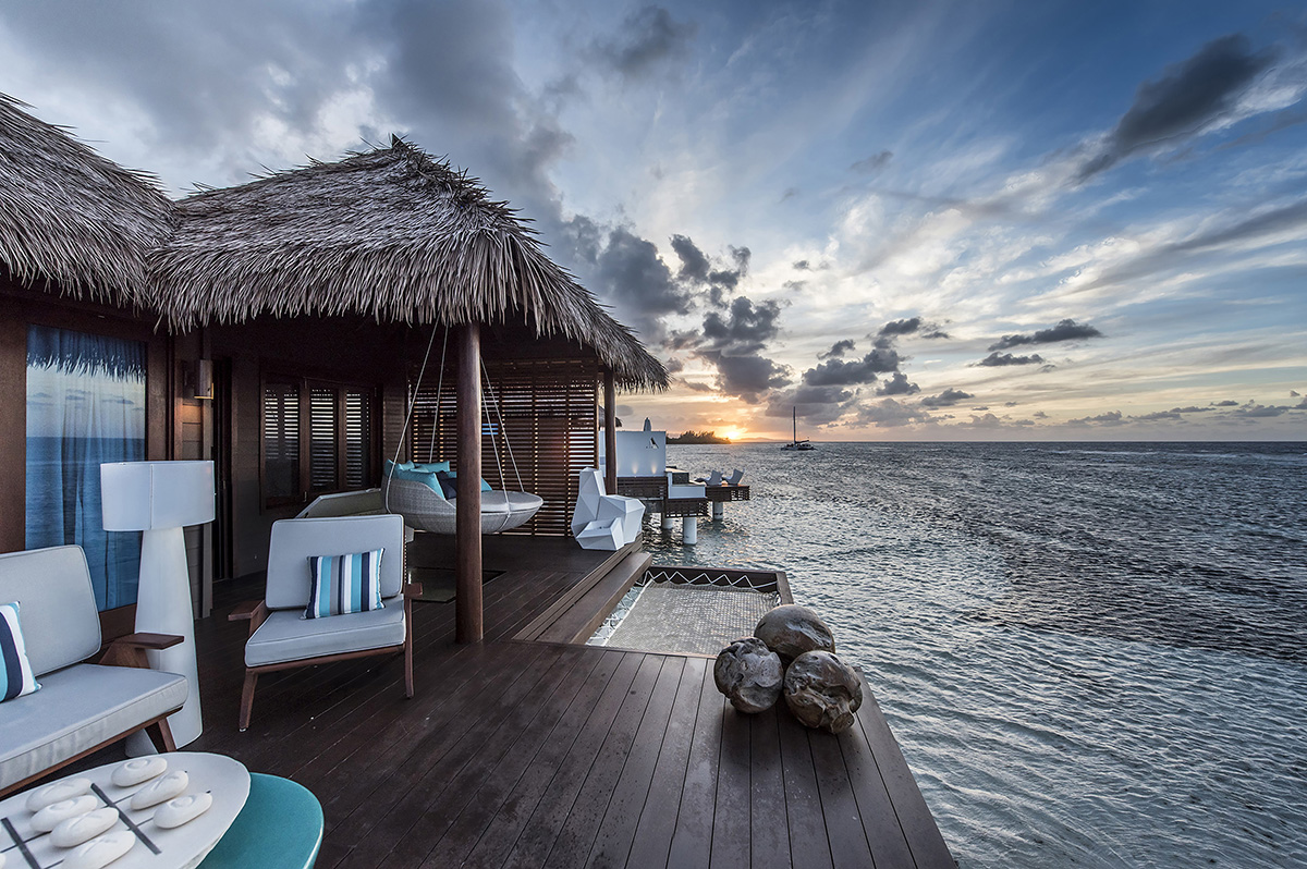 Sunset at Sandals Overwater Bungalow