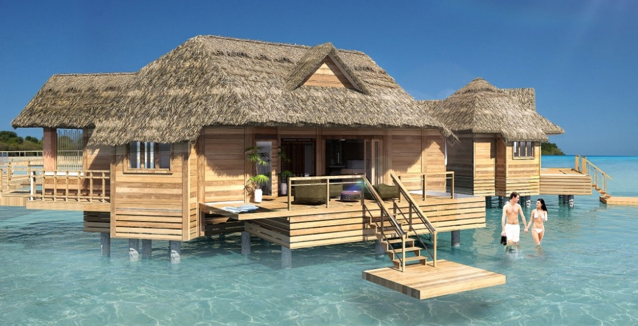 Sandals Adds Overwater Bungalows to Private Island Resort ...