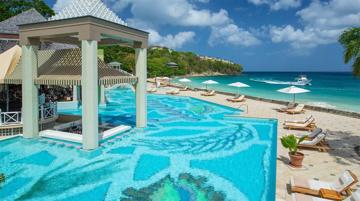Sandals Regency La Toc Pool