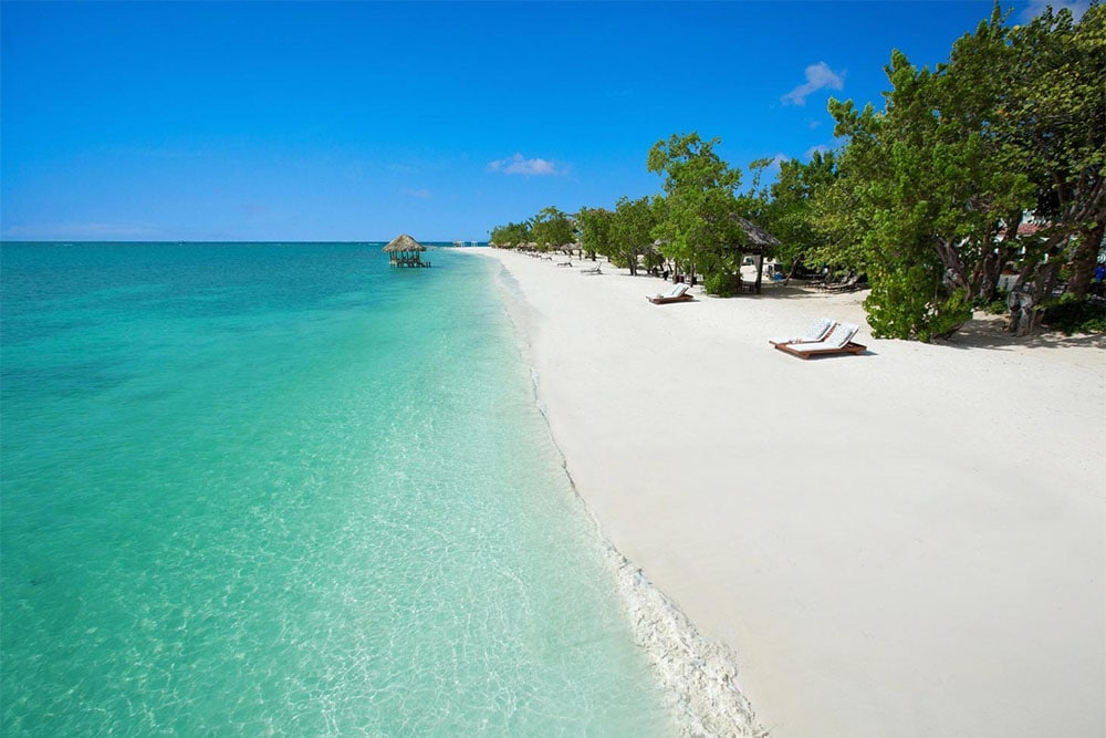 Sandals South Coast features a two-mile stretch of beach