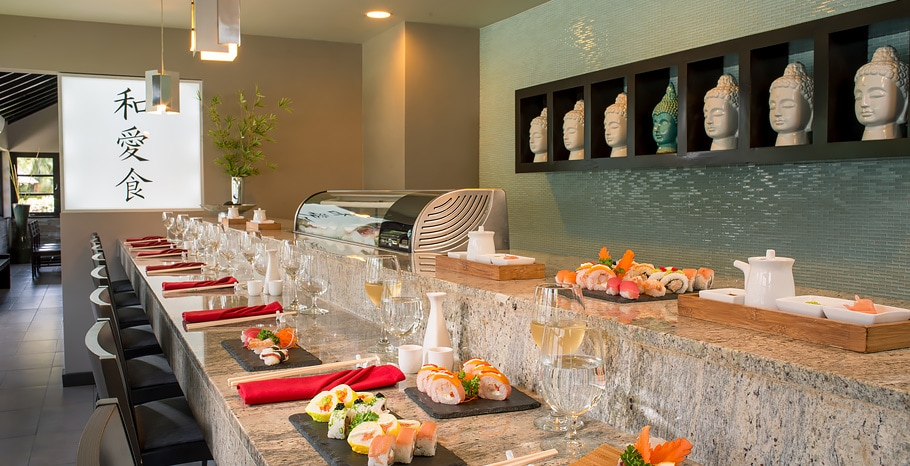 Soy Sushi Bar at Sandals Halcyon Beach in St. Lucia