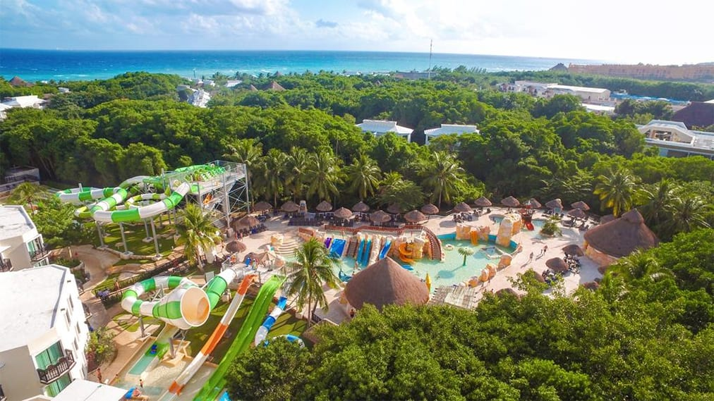 The water park at Sandos Caracol Eco Resort