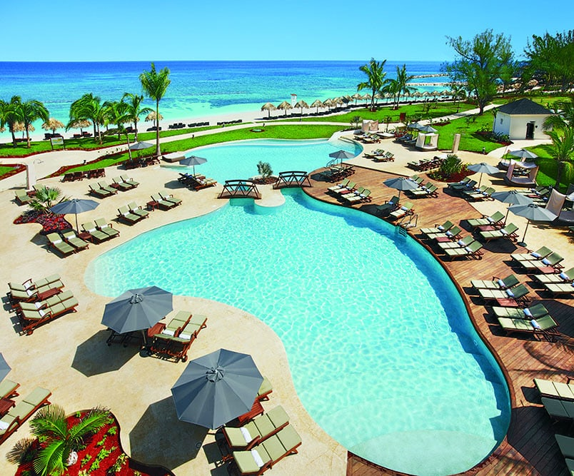 The swimming pool at Secrets Montego Bay in Jamaica