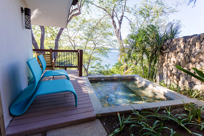 Balcony with private plunge pool