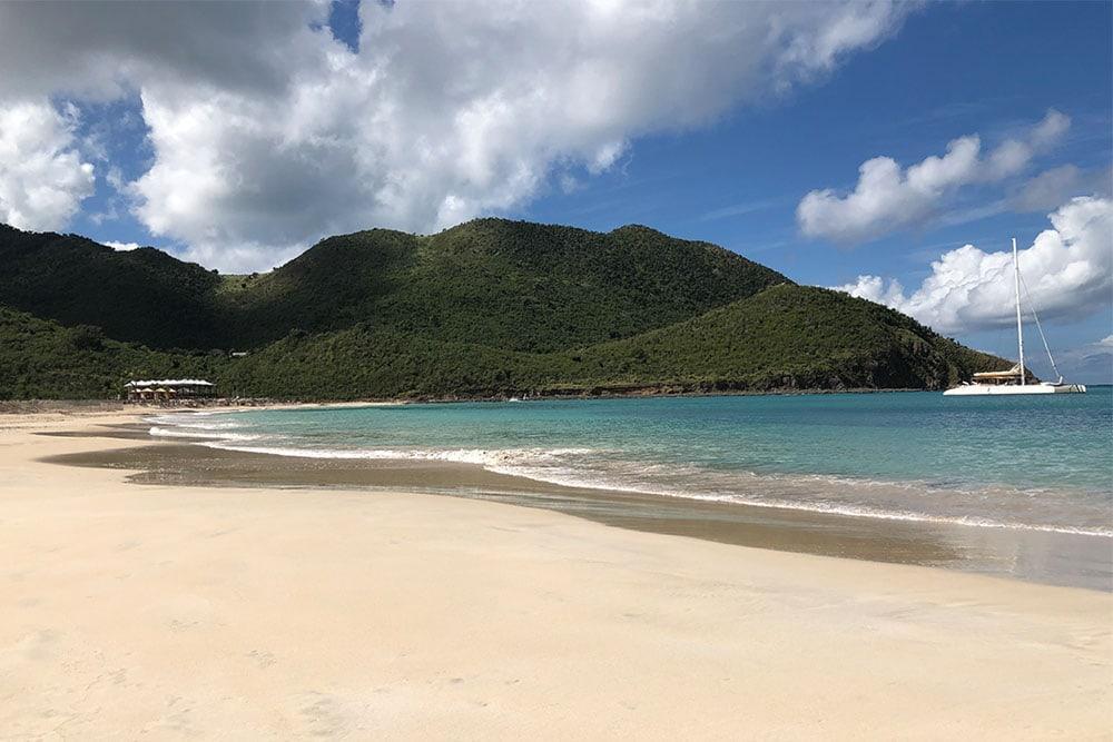 The beach at Secrets St. Martin