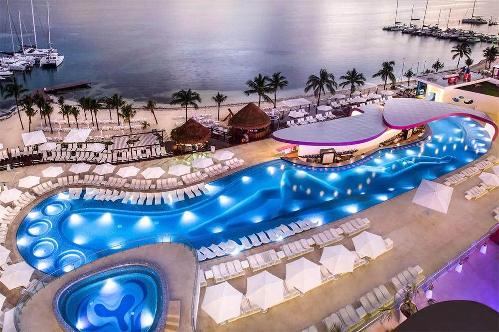 Temptation Cancun Resort Topless Pool