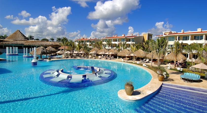 Loungers in the pool at The Reserve At Paradisus Punta Cana Resort