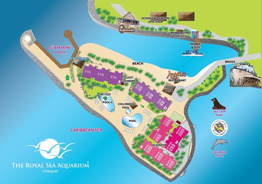 The Royal Sea Aquarium Resort Map