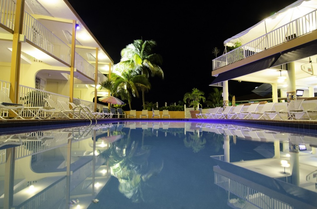 Villa Cofresi Pool at Night