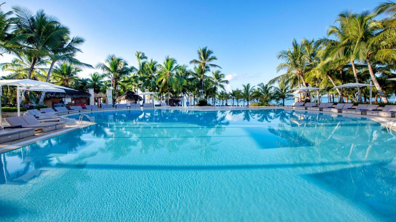 The pool at Viva Wyndham Dominicus Palace