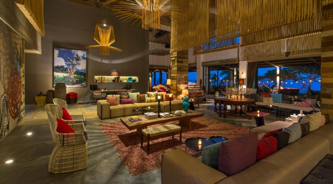 Enjoy happy hour at the eclectic Living Room, which also features an outdoor terrace with fire pits and ocean views.