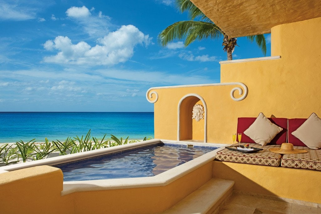 Oceanfront suite with plunge pool at Zoetry Paraiso de la Bonita Riviera Maya