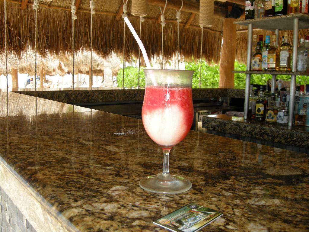 The Miami Vice is a pina colada and strawberry daiquiri with a twist.